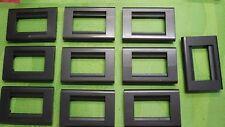 10 PLACCHE BTICINO LIVING CLASSIC A 3 POSTI COLORE ANTRACITE COD.4713AC