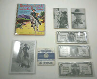 Vintage HOPALONG CASSIDY Harry Rinker Lot W AUTOGRAPHED PHOTO And Other Items