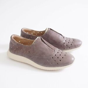 Sofft Womens Noreen Slip On Sneaker Loafers Size 9.5 M Grey Leather Perforated