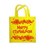 Shopping Bag Eco Friendly Merry Christmas Snowflakes Tote Shoulder Handbag 0086