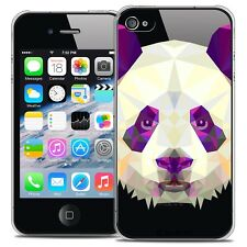 Coque Crystal Rigide iPhone 4/4s Extra Fine Polygon Animals - Panda