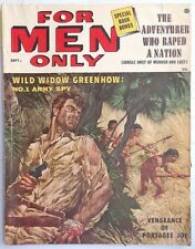 Vintage SEPTEMBER 1956 For Men Only  (Mens) MAGAZINE Wild Widow Greenhow No. 1
