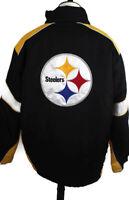 🔴 NFL Pittsburgh Steelers Coat With Detachable Reversible Vest Missing Hood XL