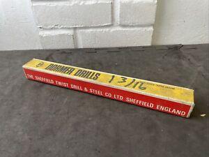 "1 3/16"" DORMER HS DRILL TAPER shank new old stock Sheffield made"