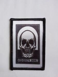 "Memento Mori Skull sublimation iron / sew on 3"" patch"