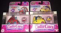 SHOPKINS CUTIE CARS QT3-04 Gumball Go-Cart & QT2-15 Berry Fast Croissant 2 Pcs.