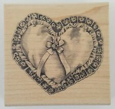 Rubber Stamp Heart Pillow Love Valentines Day Card Making New Wood Mounted