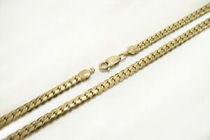 """Solid Tight Curb Miami Cuban Links 12k Gold Filled 5mm x 8.5"""" Chain Bracelet"""
