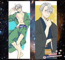 Anime YURI!!! on ICE Victor Nikiforov Dakimakura Pillow Case Cover Hugg Body #X2