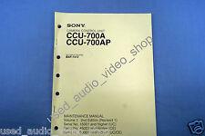 Sony ccu-700ap maintenance manual