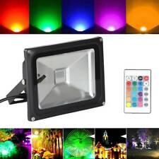 20W RGB LED Flood light Garden Outdoor Pond home Spot Lamps 16 Color Changing UK