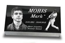 "20""x10""x3"" Human Headstone, tombstone on the Grave Marker, people, laser engrave"