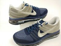 🔥 Nike AIR MAX 2017 Mens Sz 11 Running Shoes Blue / Gray Nylon 849560-808 Rare