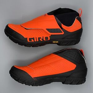 Mens Sz 9.5 GIRO MTB Bike Terraduro Mid Shoes Neon Orange Enduro XC NEW $160
