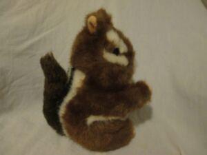 "Chipmunk Plush 2002 Platte River Trading 8"" ""Chippy"" Stuffed Animal Brown Black"