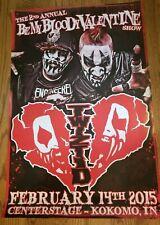 Twiztid - My Bloody Valentine's 2015 Poster insane clown posse anybody killa abk