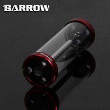Barrow Quartz Glass Tube Reservoir Water Tank  Red 220mm x 65mm Water Cooling