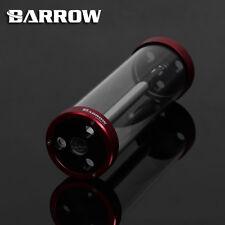 TUBO di Vetro Quarzo Barrow Serbatoio Serbatoio Rosso 220mm x 65mm raffreddamento ad acqua