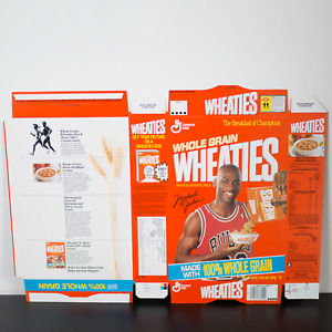 1990 Michael Jordan Wheaties Box From Factory Never Folded Pouring Cereal Bulls