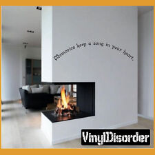 Memories keep a song in your heart. Wall Quote Mural Decal-antiquephotoquotes11