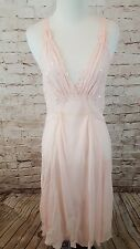 Victorias Secret pink silk long night gown sequined NWT $58 S