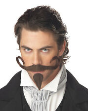The Gambler Curly Mustache Mens Fake Facial Hair
