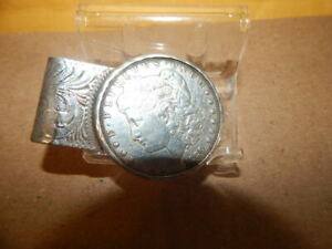 Sterling Silver 1889 Morgan Dollar Money Clip - 50.6 Grams