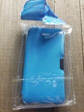 IPHONE 5 APPLE PLASTIC RUBBER PHONE CASE COVER PROTECT SHIELD POUCH BRIGHT BLUE