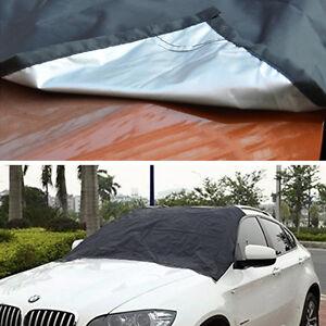 Car SUV Windshield Black Cover Snow Ice Protector Sun Shield W/ Storage Pouch