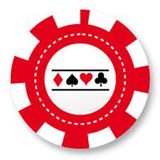 "Pin Button Badge Ø25mm 1"" Jeton Chips Jeu Carte Poker Blackjack Roulette Casino"
