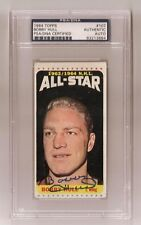 BOBBY HULL SIGNED TOPPS 1964 BLACKHAWKS HOCKEY CARD #107 PSA/DNA Auto