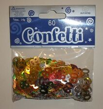 "TABLE CONFETTI - BIRTHDAY - ""60"" - MULTI-COLOURED - EUROWRAP - FREE P&P"