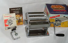 Vintage Ampia PASTA Maker Chrome Noodle Cutter Marcato ITALY w OB