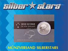 1 OZ Silber Silver 1  Neuseeland Dollar  KIWI 2010  in Coincard Blister