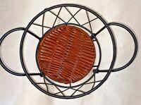 "Temp-tations Old World by Tara~Presentable Ovenware~Black Wire Basket 7"" Round"