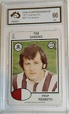 1975 Scanlens Tim Sheens Graded Near Mint