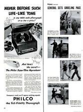 1951 Philco PRINT AD Super-Tone Phonograph Record Player