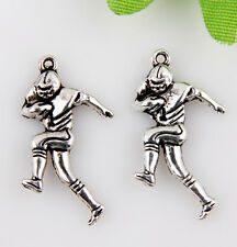 10pcs zinc alloy Football player charms/pendants 29x17mm 1A1932