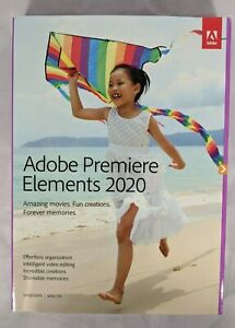 Adobe Premiere Elements 2020 Video Editing PC/MAC DVD Disc