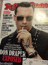 JON HAMM SIGNED ROLLING STONE MAGAZINE 4/11/13 COVER