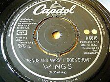 """WINGS - VENUS AND MARS / ROCK SHOW  7"""" VINYL"""