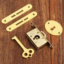 Antique Furniture Drawer Cabinet Wardrobe Cupboard Door Lock With Key Hardware