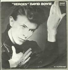 "DAVID BOWIE HEROES / V2 SCHNEIDER FRANCE 1977 7"" PS on RCA  glam"