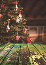 Christmas Photography Backdrops Photo Studio Props Retro Background Vinyl 5x7FT