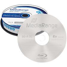 MediaRange Blu-ray Rohling BD-R Dual Layer 50 GB 6x speed, 10er-Spindel