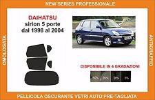 pellicola oscurante vetri dahiatsu sirion 5 p dal 1998 al 2004
