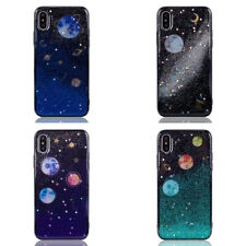 Glitter Space planet Soft TPU Silicon phone Case Cover for iphone X 6s 7 8 Plus