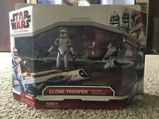 Star Wars 2009 Hasbro Clone Trooper & Barc Speeder Bike Brand New