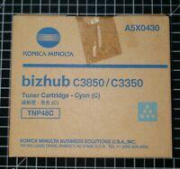 Konica Minolta TNP48C Cyan Toner Cartridge A5X0430 for Bizhub C3850 C3350 New