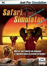 SAFARI SIMULATOR animaux de la savane Africaine chasseurs jeu PC ordinateur neuf